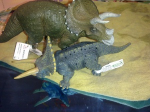 Triceratops mother and baby