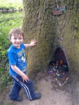 Logan at 'Mole's house' Lady Mary's walk Crieff