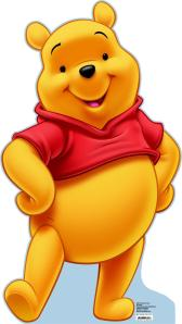 winnie the pooh standing and smiling