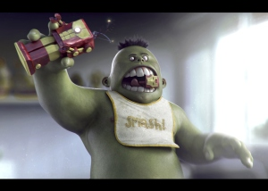 This epic 'Baby Hulk' is by Carlos Sastre Antoranz